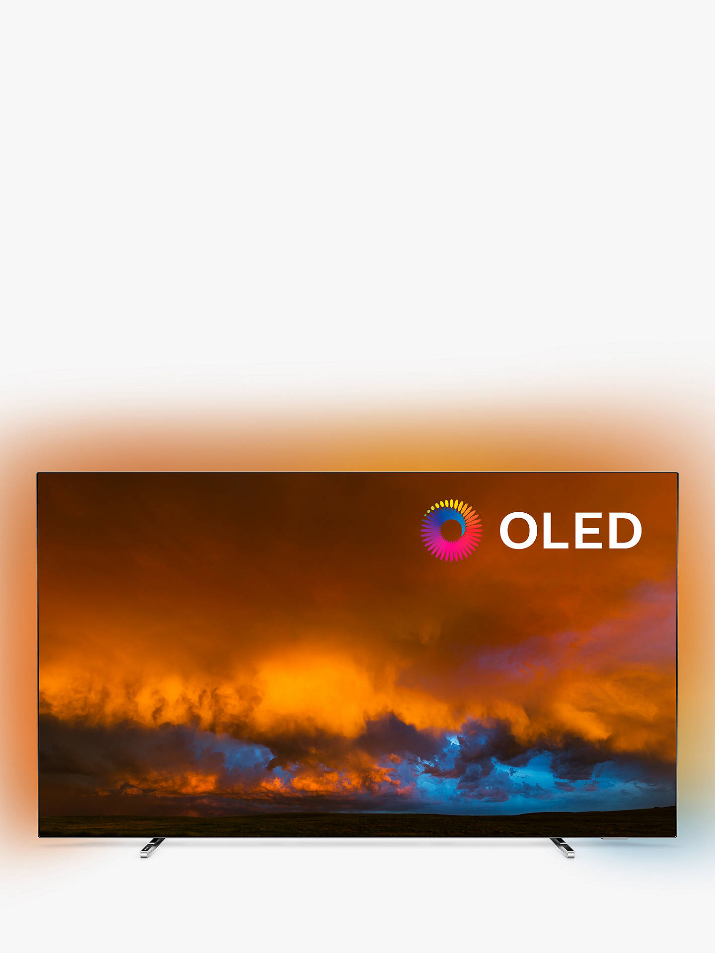 "Philips 55 Oled804 (2019) Oled Hdr 4 K Ultra Hd Smart Android Tv, 55"" With Freeview Hd & Ambilight, Silver by Philips"