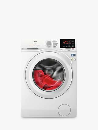 AEG 6000 L6FBG841CA Freestanding Washing Machine, 8kg Load, 1400rpm Spin, White