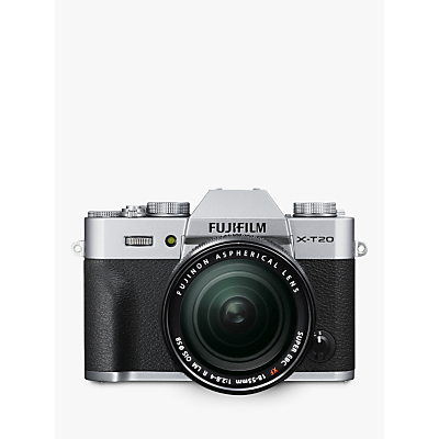 Fujifilm X-T20 Compact System Camera with XF 18-55mm OIS Lens, 4K Ultra HD, 24.3MP, Wi-Fi, OLED EVF, 3� Tiltable LCD Touch Screen