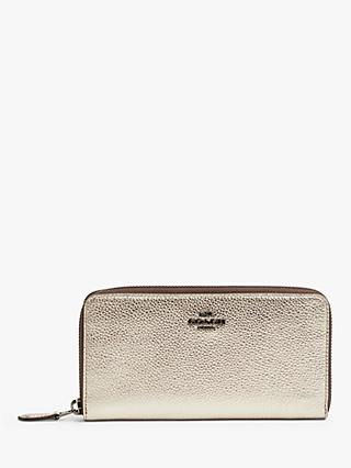 Coach Accordian Leather Zip Purse