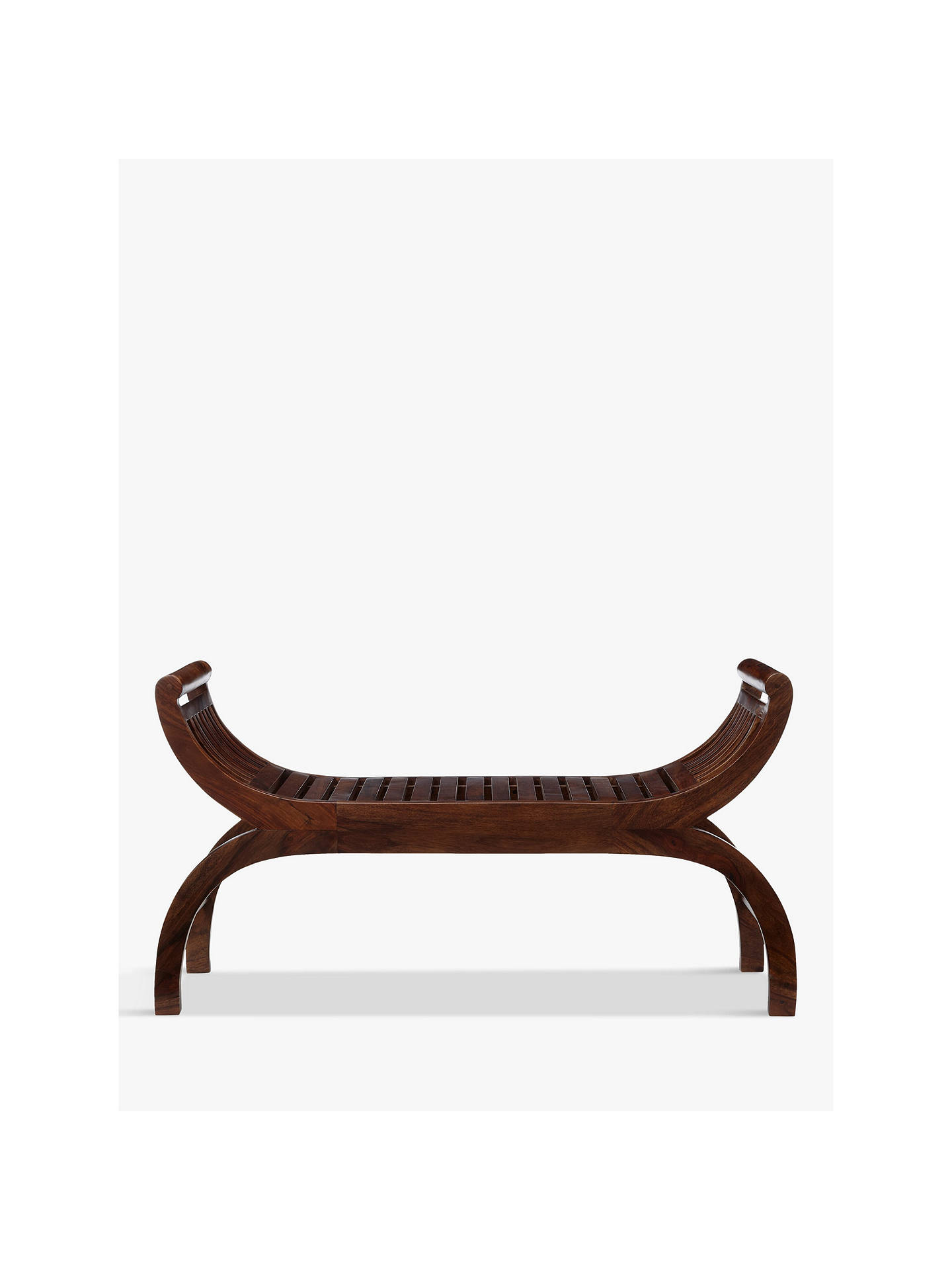 Buy John Lewis & Partners Maharani 3 Seater Curved Bench, Brown Online at johnlewis.com
