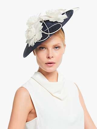 John Lewis & Partners Serafina Flower Detail Wide Disc Occasion Hat