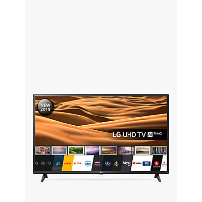 LG 43UM7000PLA (2019) LED HDR 4K Ultra HD Smart TV, 43 with Freeview Play/Freesat HD, Black