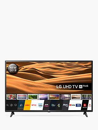 "LG 43UM7000PLA (2019) LED HDR 4K Ultra HD Smart TV, 43"" with Freeview Play/Freesat HD, Black"