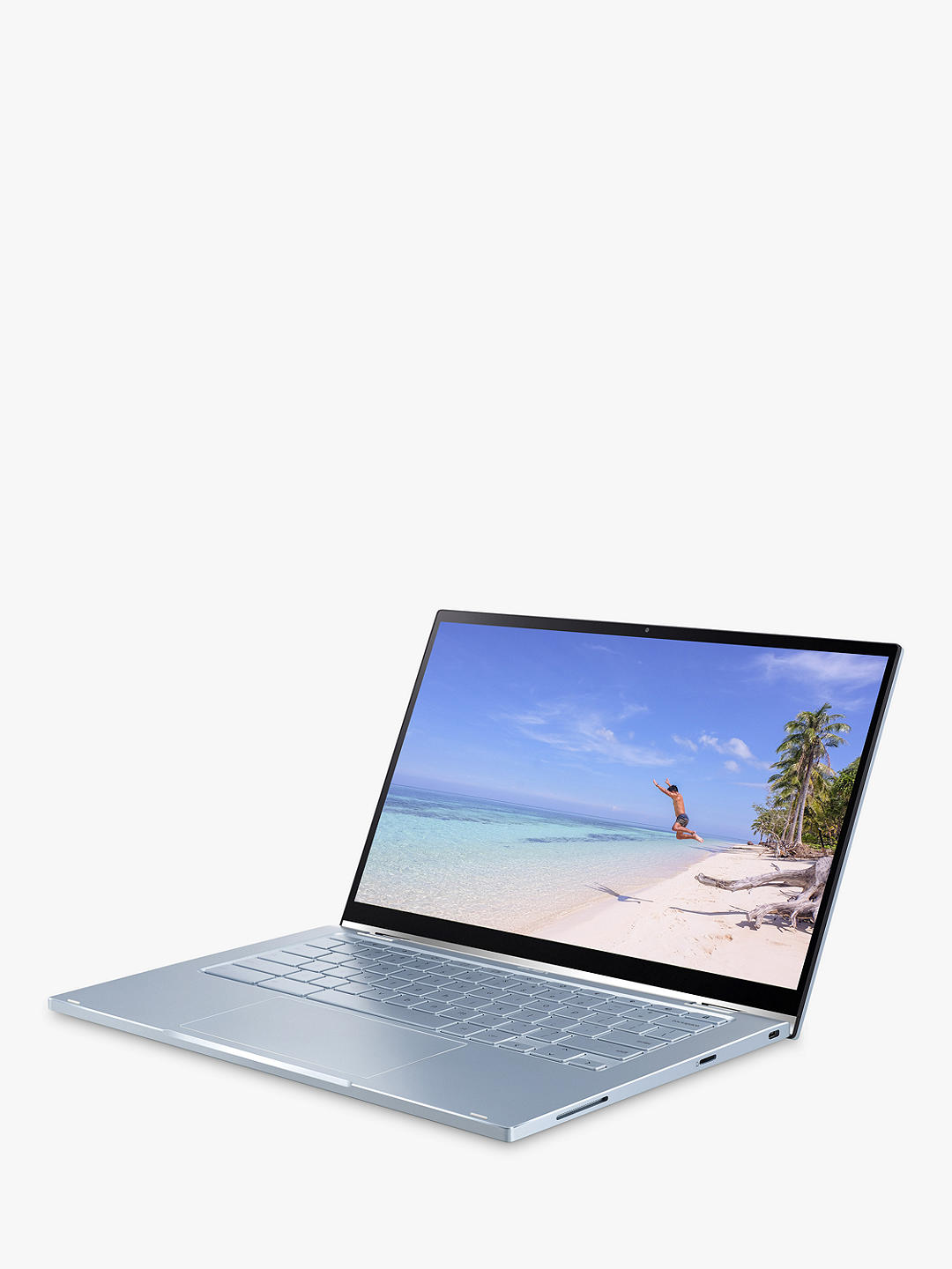 "Buy ASUS Chromebook Flip C433TA, Intel Core M3, 4GB RAM, 64GB eMMC, 14"" Full HD, Silver Online at johnlewis.com"