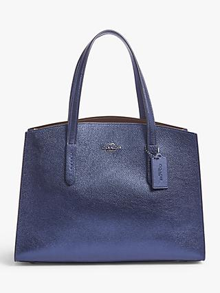 Coach Charlie Leather Carryall Tote Bag