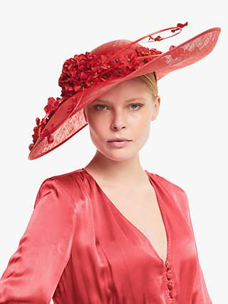 Snoxells Poppy Statement Flower Embellishment Occasion Hat
