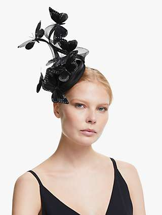 Snoxells Zena Small Butterfly Embellishment Occasion Hat, Black