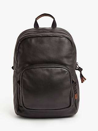 Coach Pacer Leather Backpack, Black