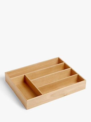 Croft Collection Beech Wood Cutlery Tray