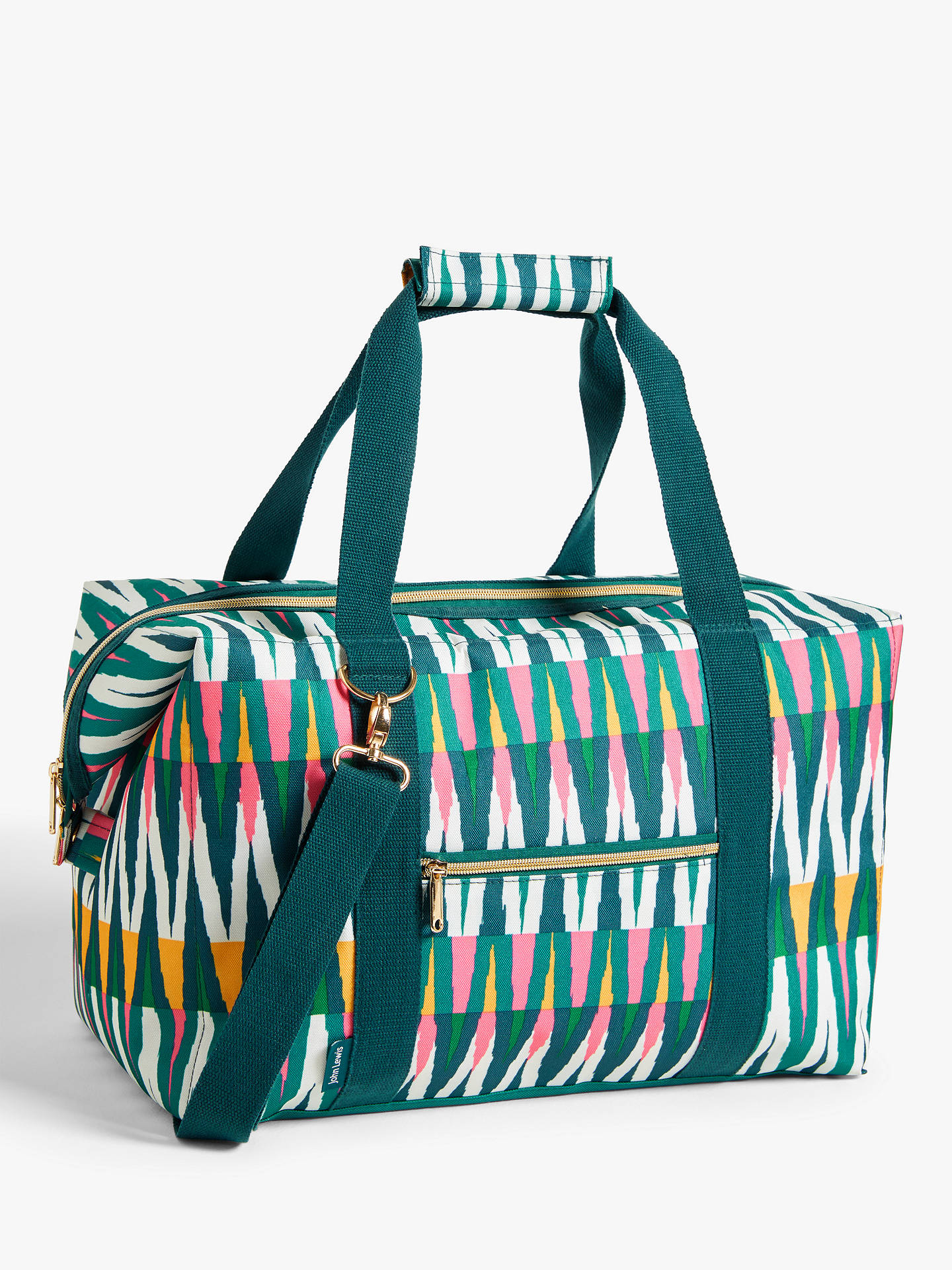 Buy John Lewis & Partners Fusion Extra Large Picnic Cooler Bag, 30L, Green/Multi Online at johnlewis.com