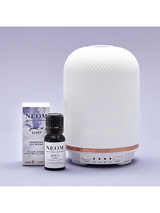 Neom Organics London Wellbeing Pod Diffuser & Scent to Sleep Essential Oil Blend, 10ml (bundle)