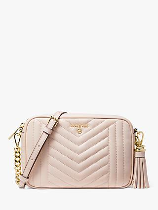 MICHAEL Michael Kors Jet Set Quilted Leather Camera Bag, Soft Pink
