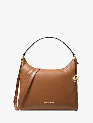 MICHAEL Michael Kors Aria Leather Large Shoulder Bag
