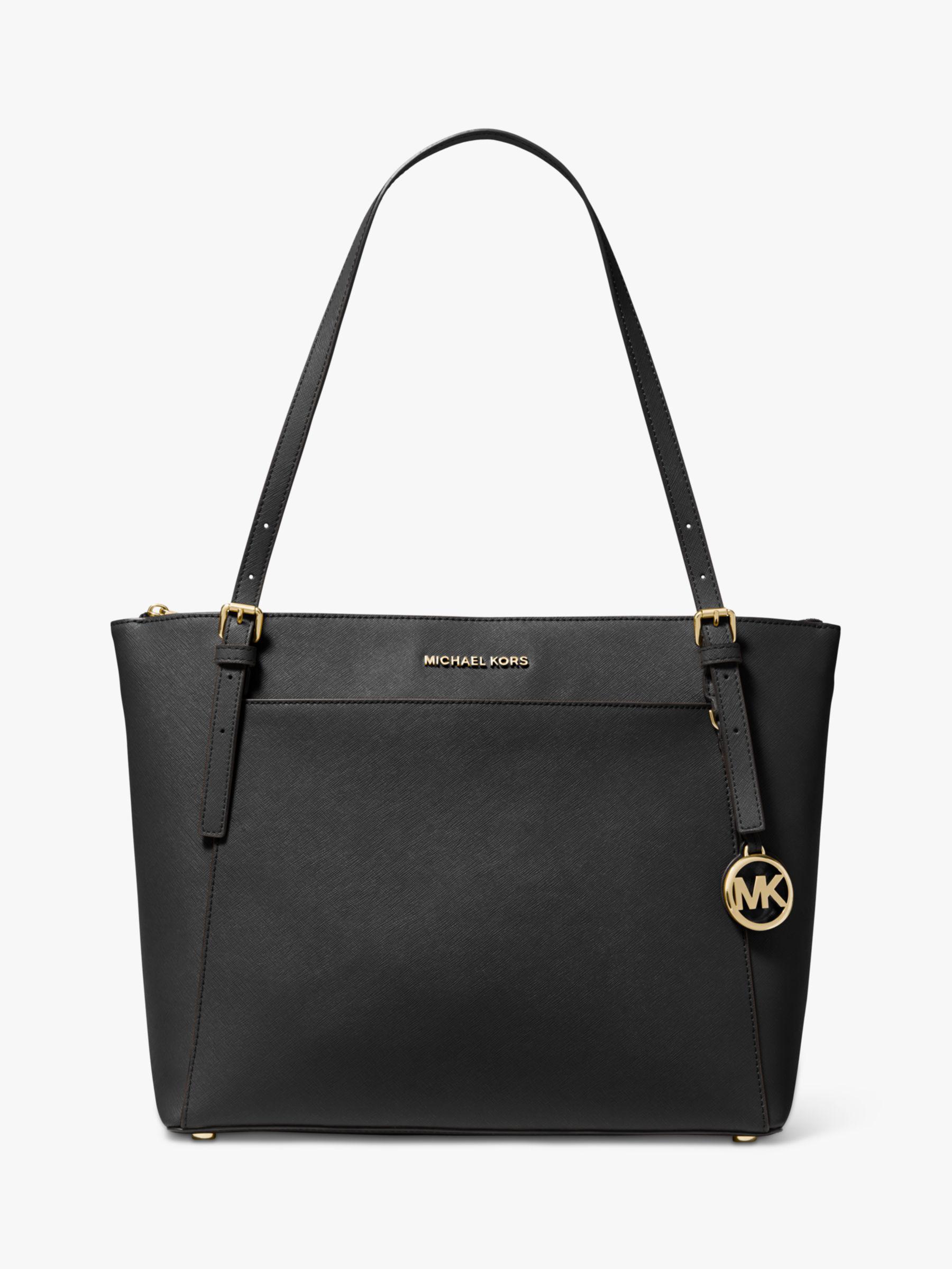michael kors black and white purse