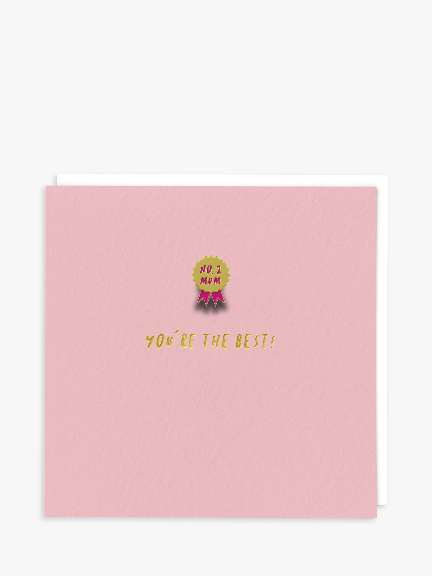 Redback Cards Redback Cards Number 1 Mum Mother's Day Card with Enamel Pin