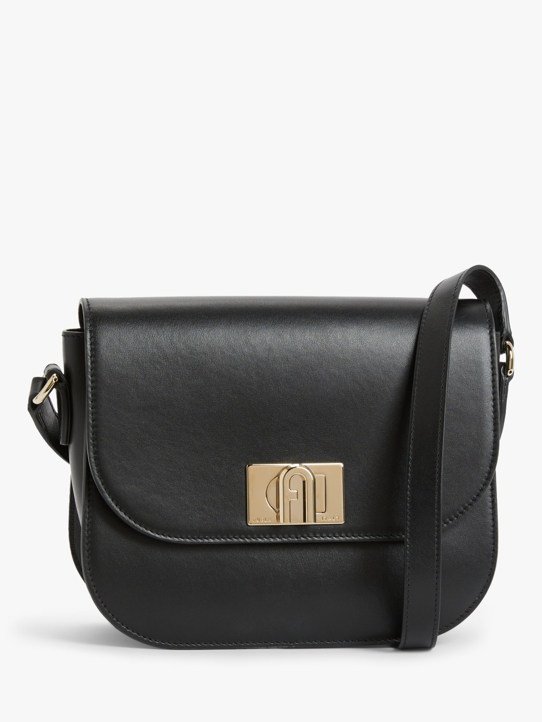 Furla Furla 1927 Leather Mini Cross Body Bag, Black