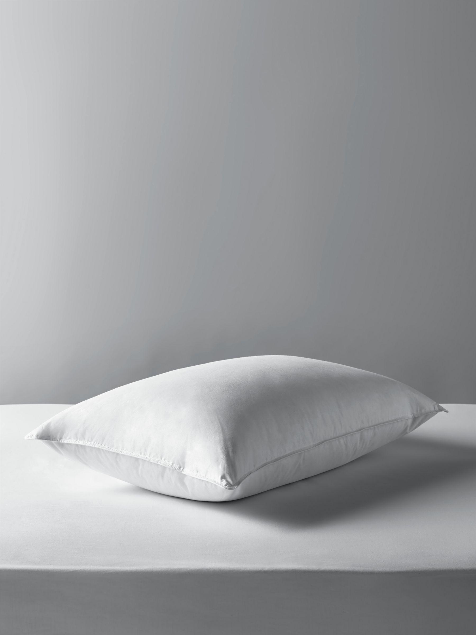 John Lewis & Partners Natural Duck Feather and Down Standard Pillow, Soft/Medium