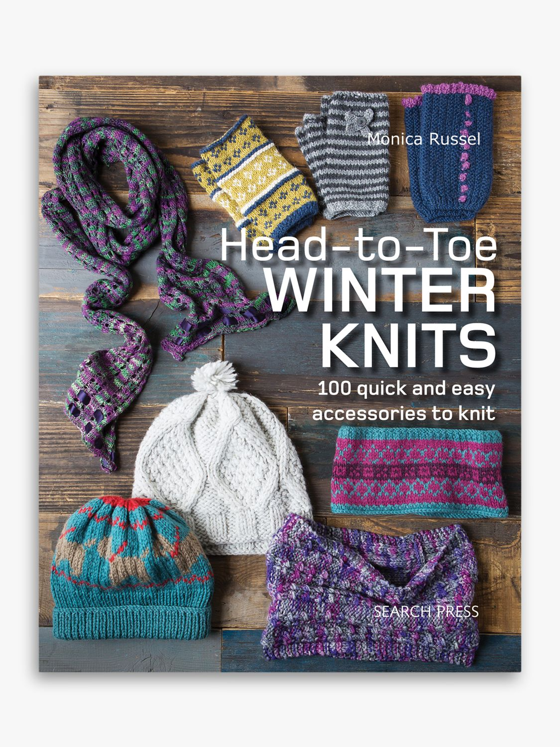Search Press Winter Knits and Knitted Headbands by Monica Russel Book Bundle
