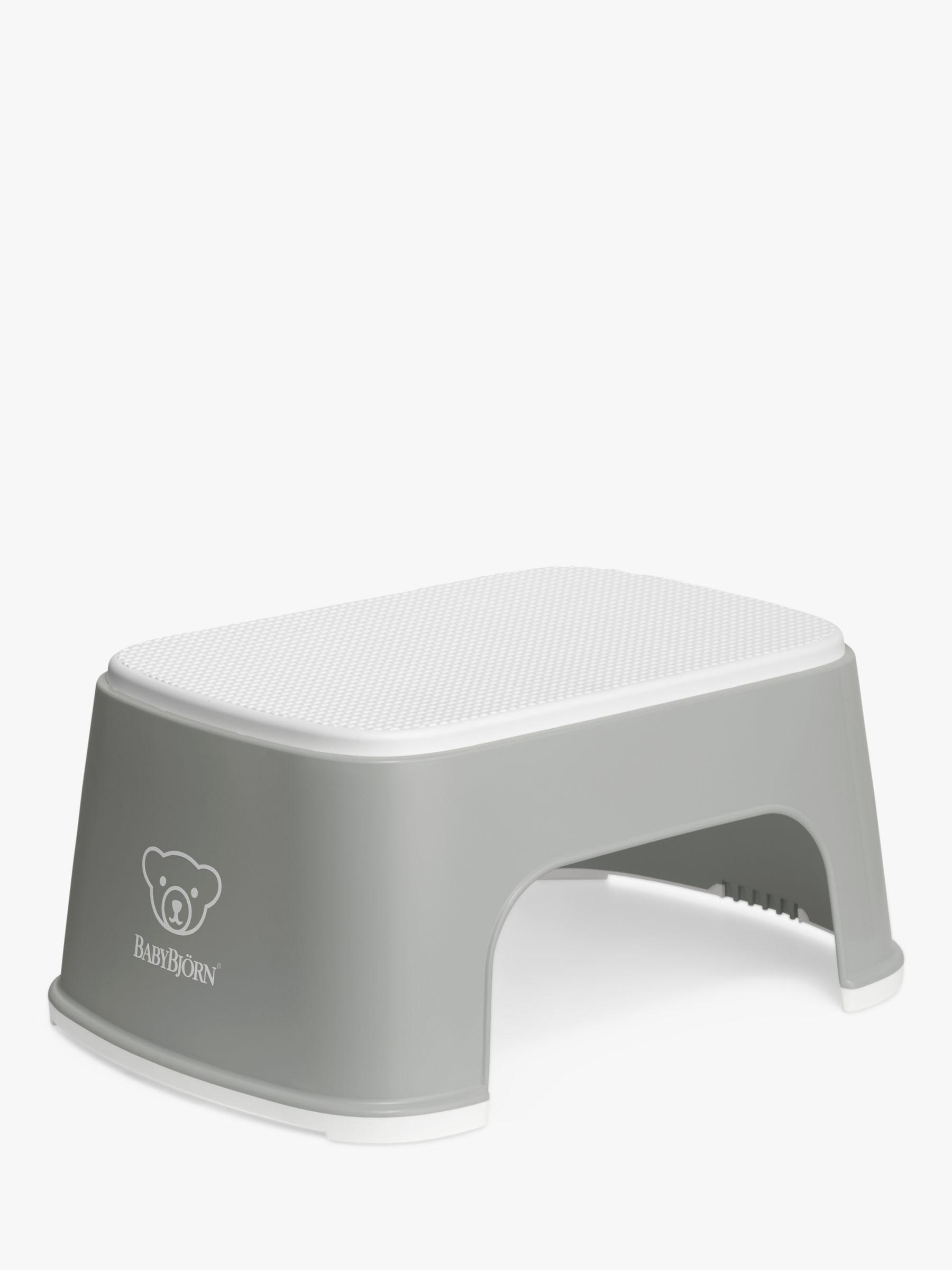 BabyBjorn BabyBjörn Toilet Training Step Stool, Grey/ White Trim