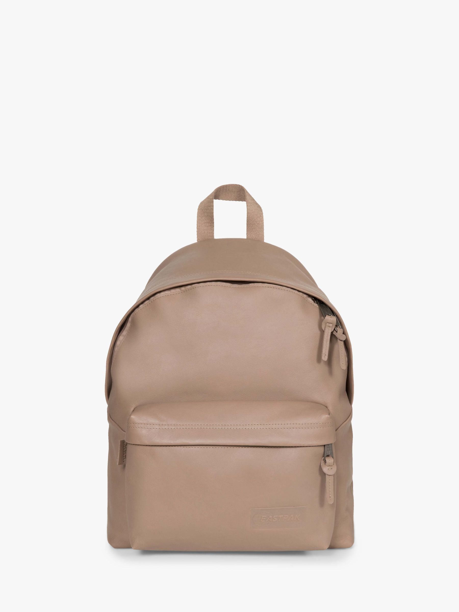 Eastpak Eastpak Padded Pak'r Leather Backpack, Taupe