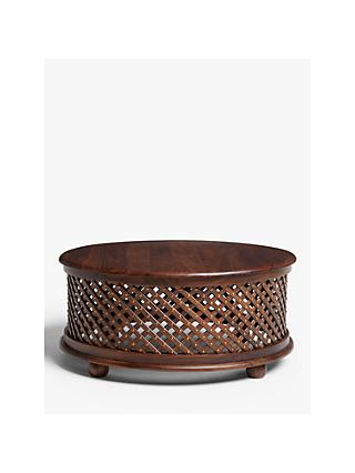 John Lewis & Partners Maharani Drum Coffee Table, Brown
