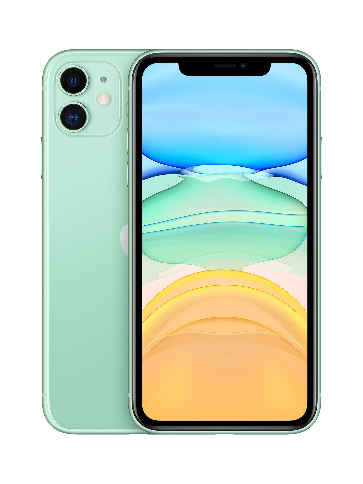 "Buy Apple iPhone 11, iOS, 6.1"", 4G LTE, SIM Free, 128GB, Green Online at johnlewis.com"