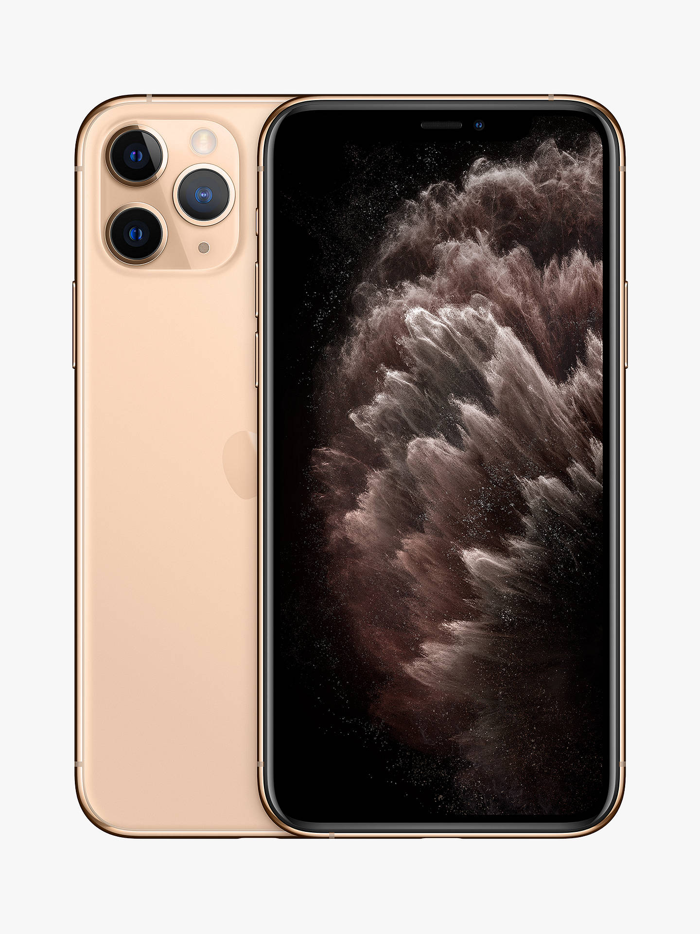 "Buy Apple iPhone 11 Pro, iOS, 5.8"", 4G LTE, SIM Free, 512GB, Gold Online at johnlewis.com"