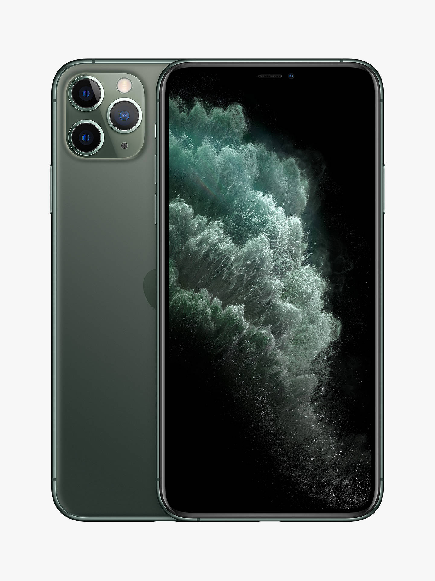 "Buy Apple iPhone 11 Pro Max, iOS, 6.5"", 4G LTE, SIM Free, 256GB, Midnight Green Online at johnlewis.com"