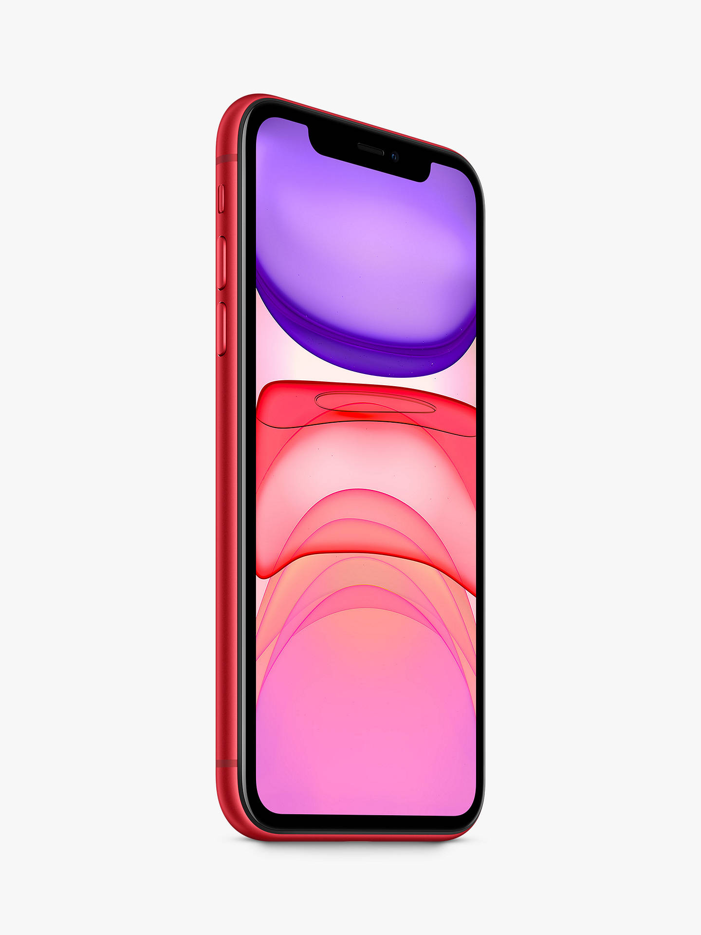 "Buy Apple iPhone 11, iOS, 6.1"", 4G LTE, SIM Free, 256GB, (PRODUCT)RED Online at johnlewis.com"