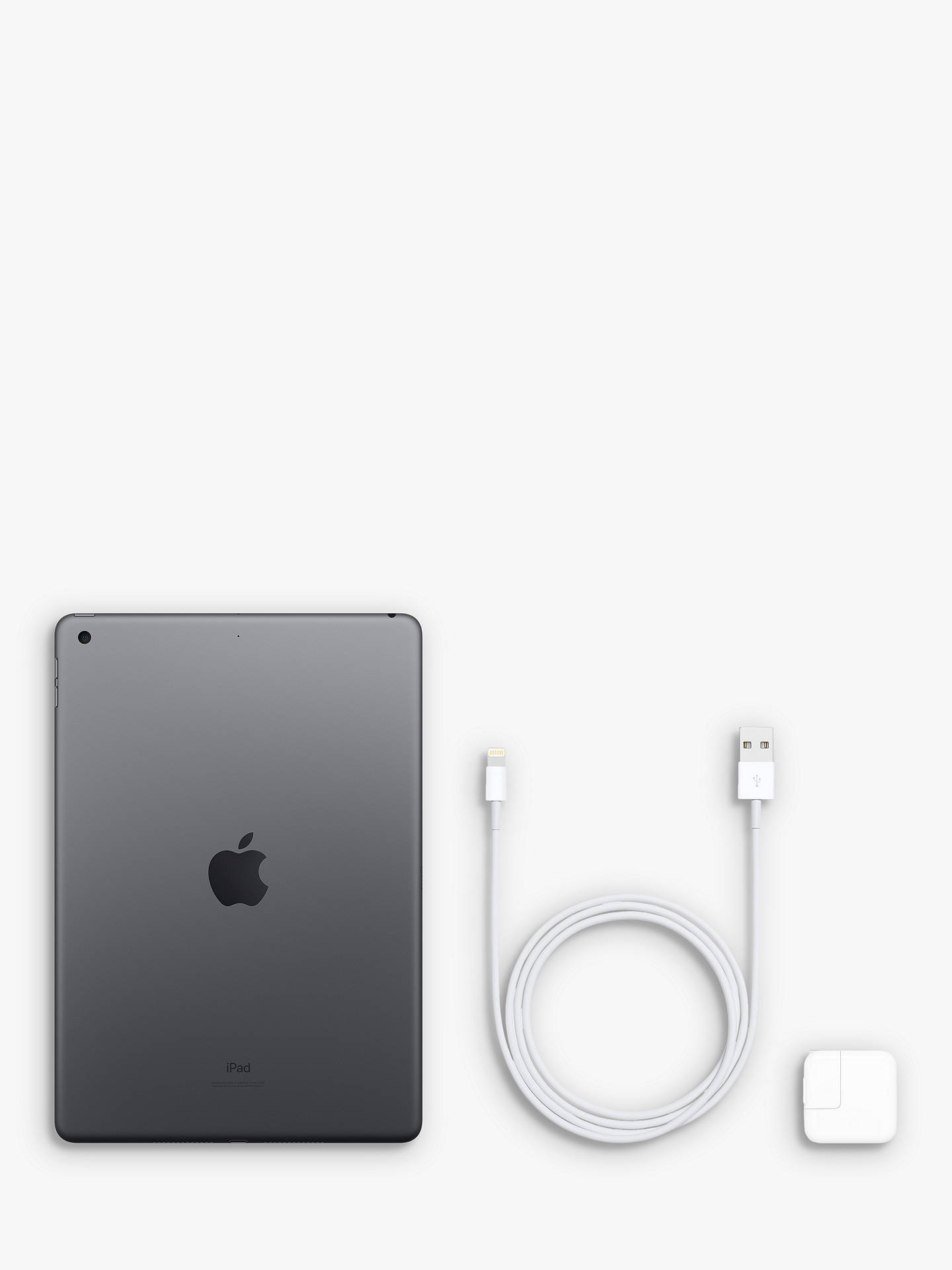 "Buy 2019 Apple iPad 10.2"", A10, iPadOS, Wi-Fi, 32GB, Space Grey Online at johnlewis.com"
