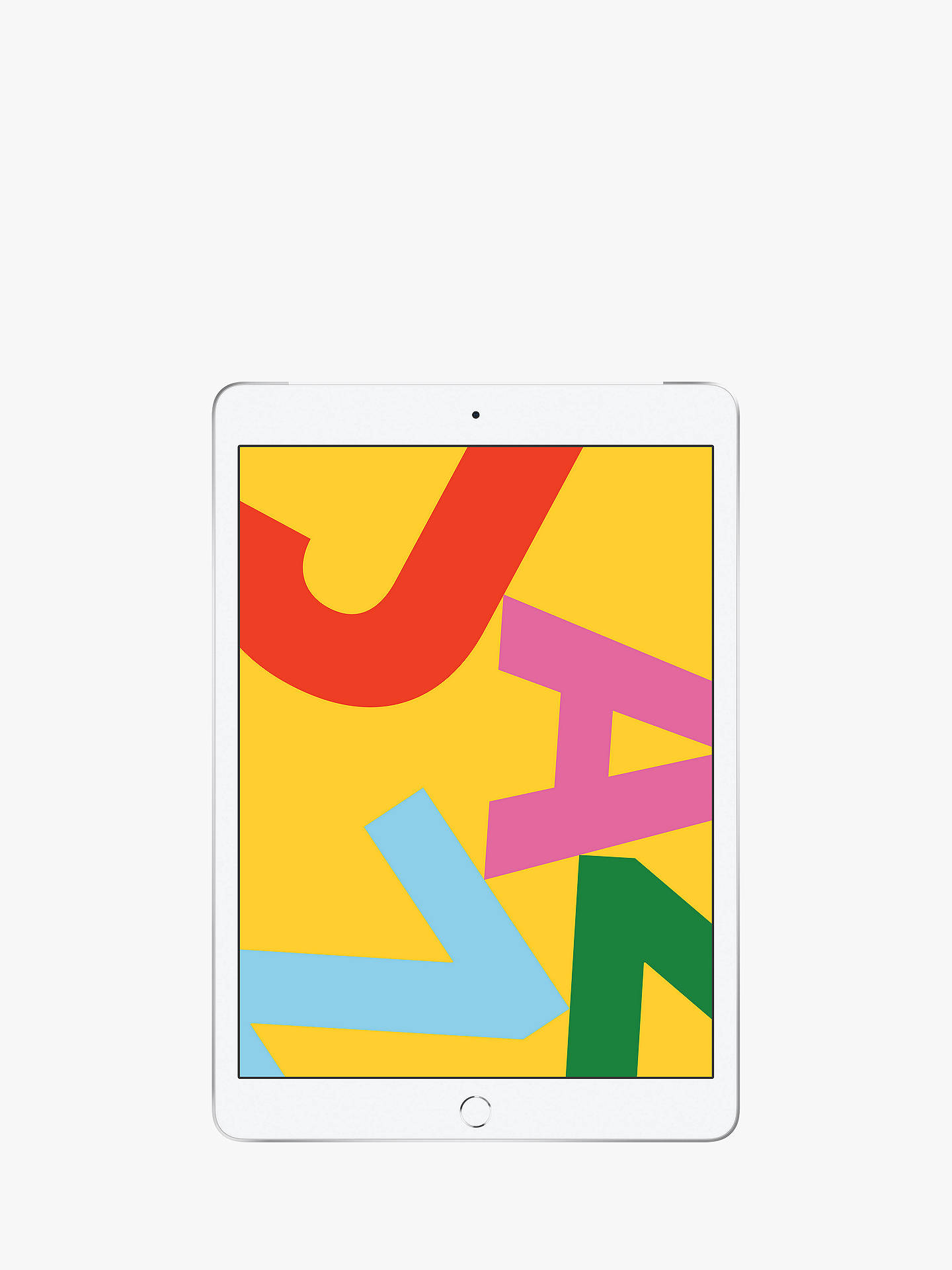 "Buy 2019 Apple iPad 10.2"", A10, iPadOS, Wi-Fi & Cellular, 32GB, Silver Online at johnlewis.com"