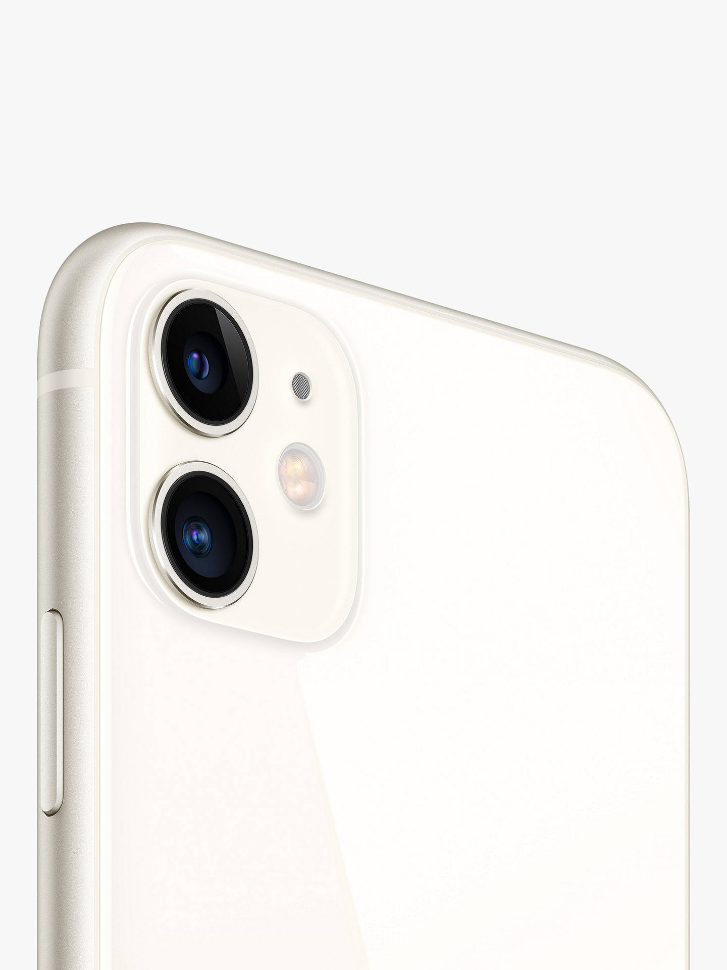 "Buy Apple iPhone 11, iOS, 6.1"", 4G LTE, SIM Free, 128GB, White Online at johnlewis.com"