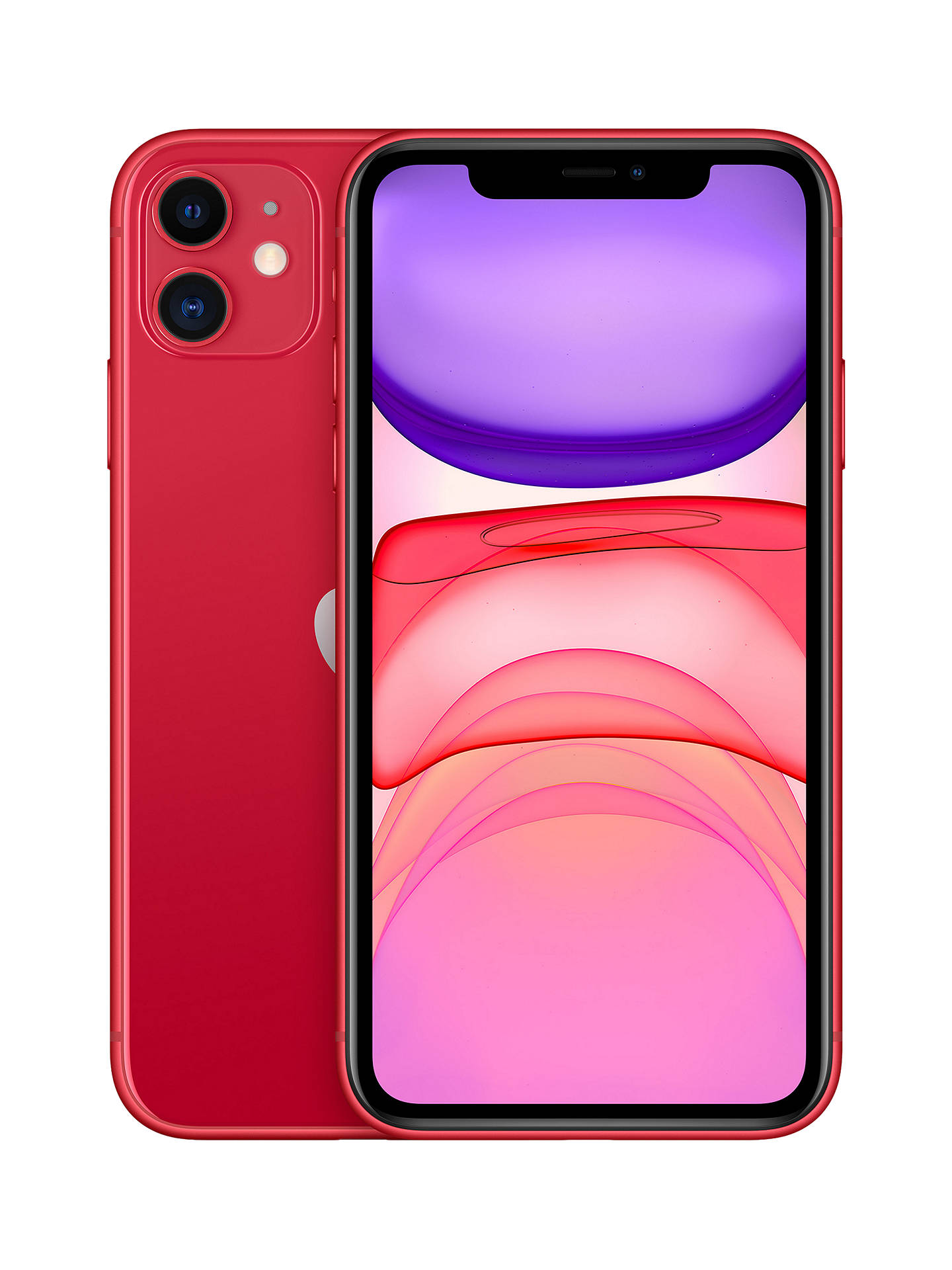 "Buy Apple iPhone 11, iOS, 6.1"", 4G LTE, SIM Free, 128GB, (PRODUCT)RED Online at johnlewis.com"