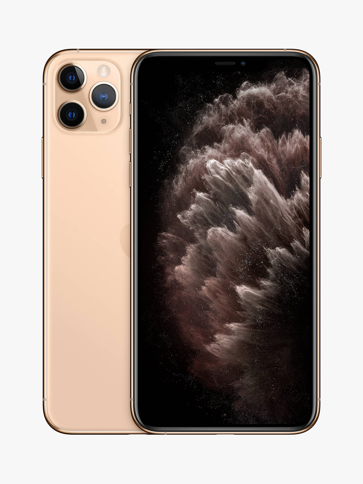"Buy Apple iPhone 11 Pro Max, iOS, 6.5"", 4G LTE, SIM Free, 64GB, Gold Online at johnlewis.com"
