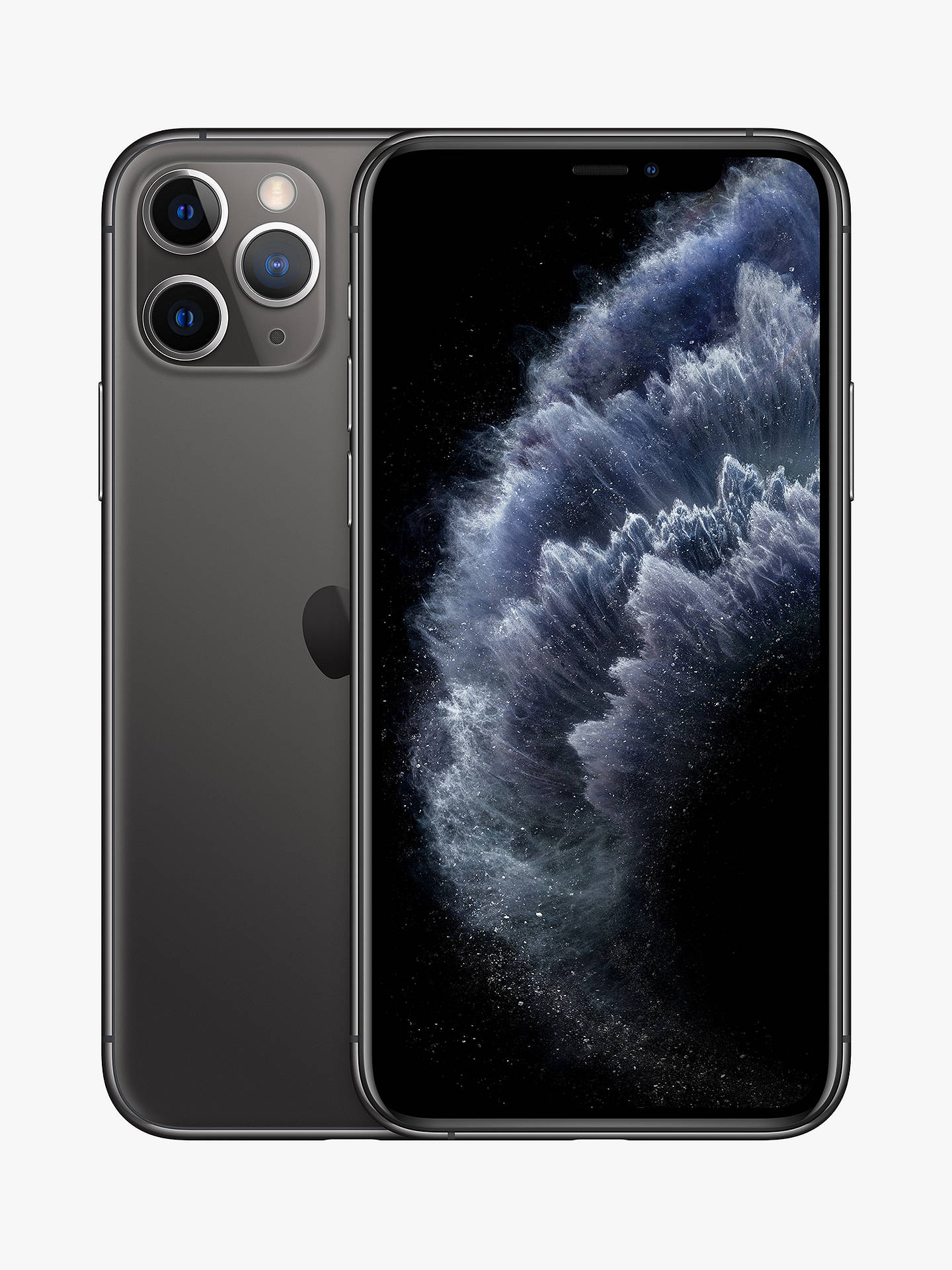 "Buy Apple iPhone 11 Pro Max, iOS, 6.5"", 4G LTE, SIM Free, 256GB, Space Grey Online at johnlewis.com"