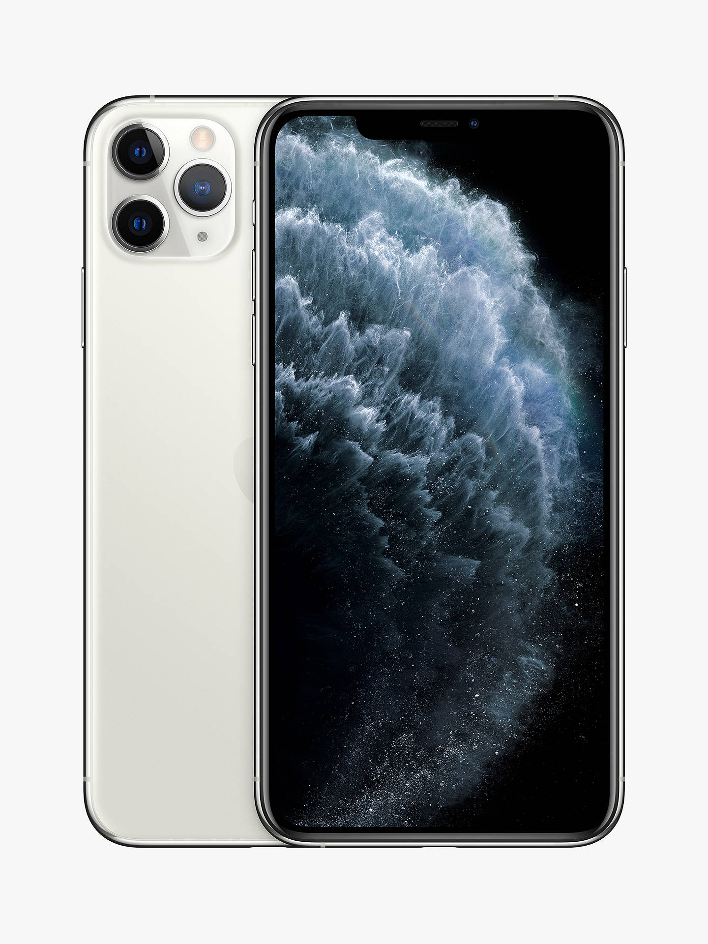 "Buy Apple iPhone 11 Pro Max, iOS, 6.5"", 4G LTE, SIM Free, 256GB, Silver Online at johnlewis.com"