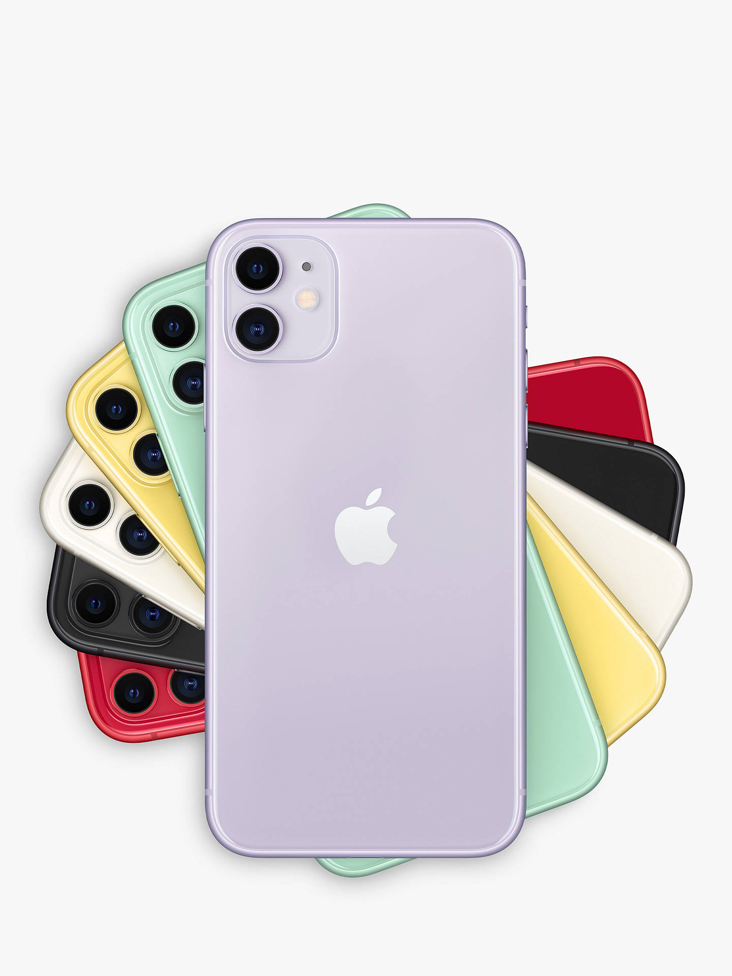 "Buy Apple iPhone 11, iOS, 6.1"", 4G LTE, SIM Free, 256GB, Purple Online at johnlewis.com"