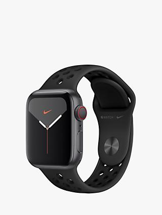 Apple Watch Nike Series 5 GPS + Cellular, 40mm Space Gray Aluminium Case with Anthracite/Black Nike Sport Band - S/M & M/L