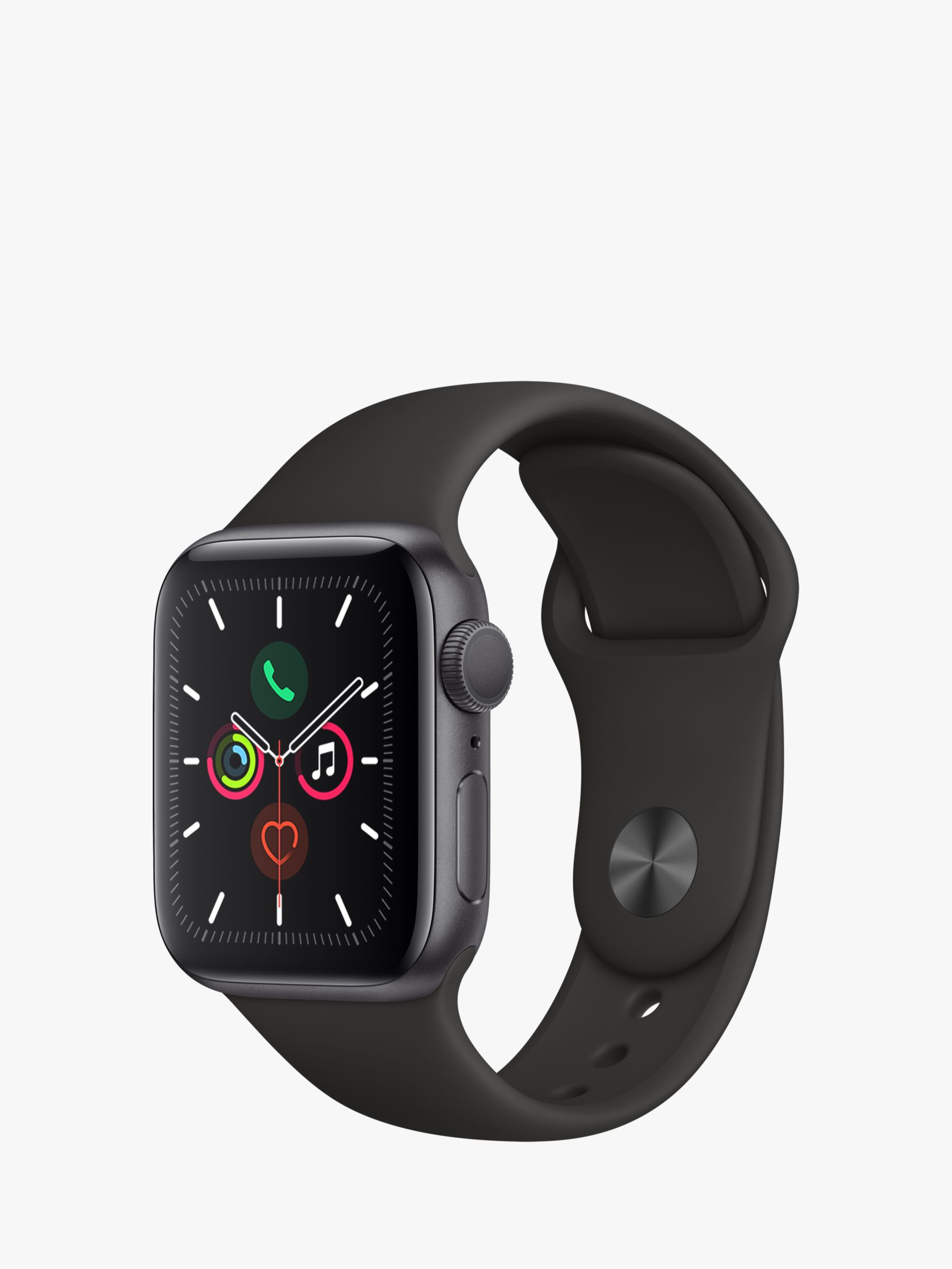 Apple Apple Watch Series 5 GPS, 40mm Space Grey Aluminium Case with Black Sport Band