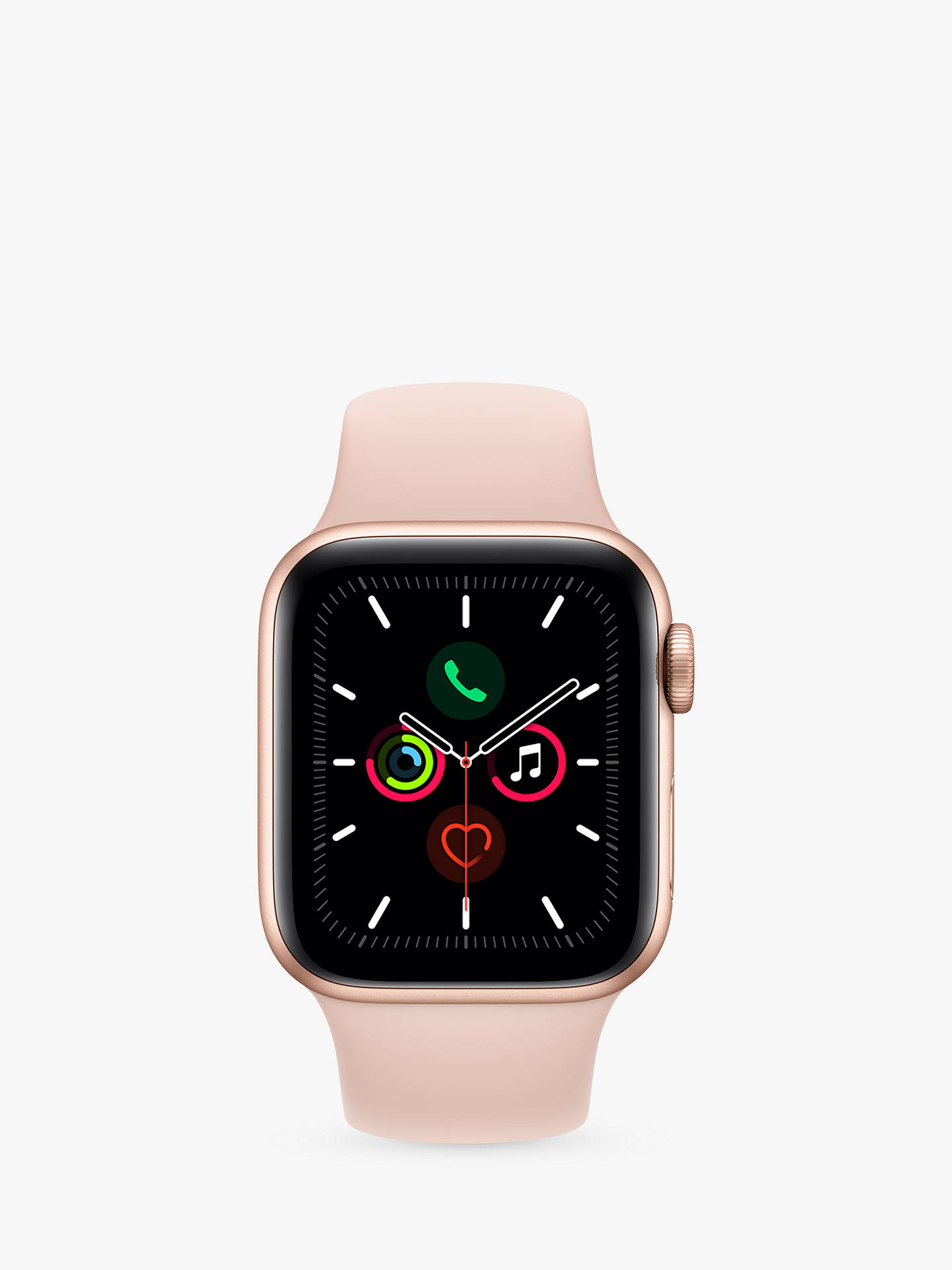 Buy Apple Watch Series 5 GPS, 40mm Gold Aluminium Case with Pink Sand Sport Band Online at johnlewis.com