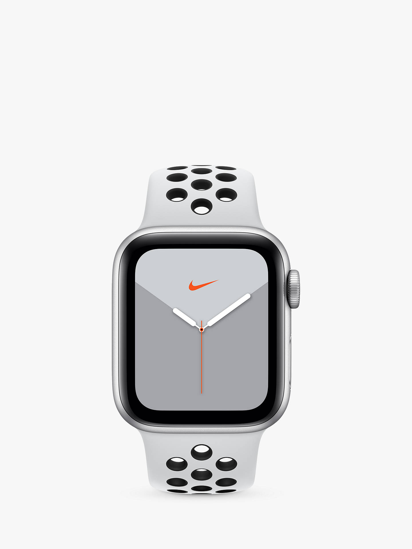 Por lo tanto Multitud de nuevo  Apple Watch Nike Series 5 GPS + Cellular, 40mm Silver Aluminium Case with  Pure Platinum/Black Nike Sport Band - S/M & M/L at John Lewis & Partners