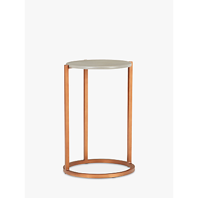 John Lewis & Partners Asha Side Table, Grey