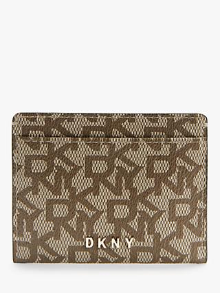 DKNY Bryant Logo Leather Card Holder
