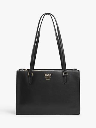 DKNY Whitney Leather Tote Bag, Black
