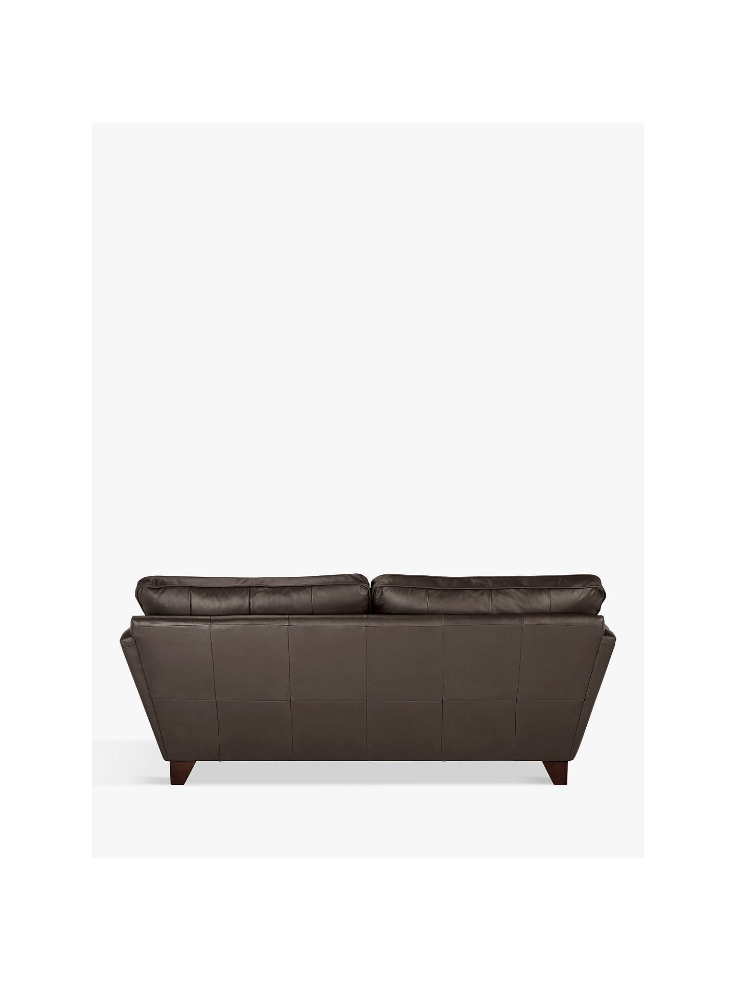 Buy John Lewis & Partners Oslo Large 3 Seater Leather Sofa, Dark Leg, Destroyed Black Online at johnlewis.com