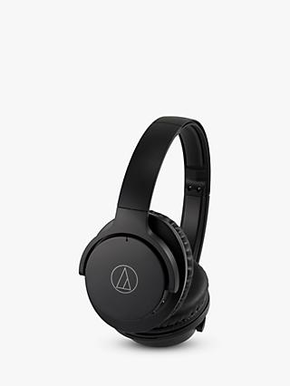 Audio-Technica ATH-ANC500BT Active Noise-Cancelling Wireless Bluetooth Over-Ear Headphones with Mic/Remote, Black