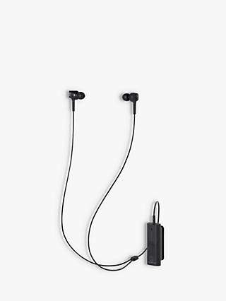 Audio-Technica ATH-ANC100BT Active Noise-Cancelling Wireless Bluetooth In-Ear Headphones with Mic/Remote, Black