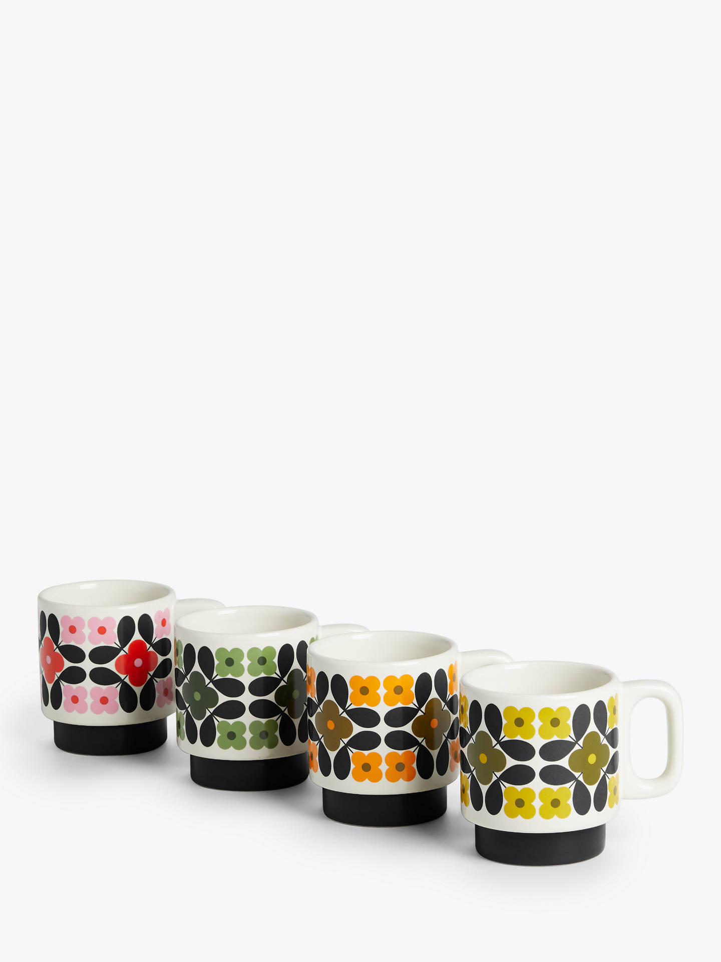 John Lewis Stackable Espresso Cups & Stand, Set of 4, 100ml