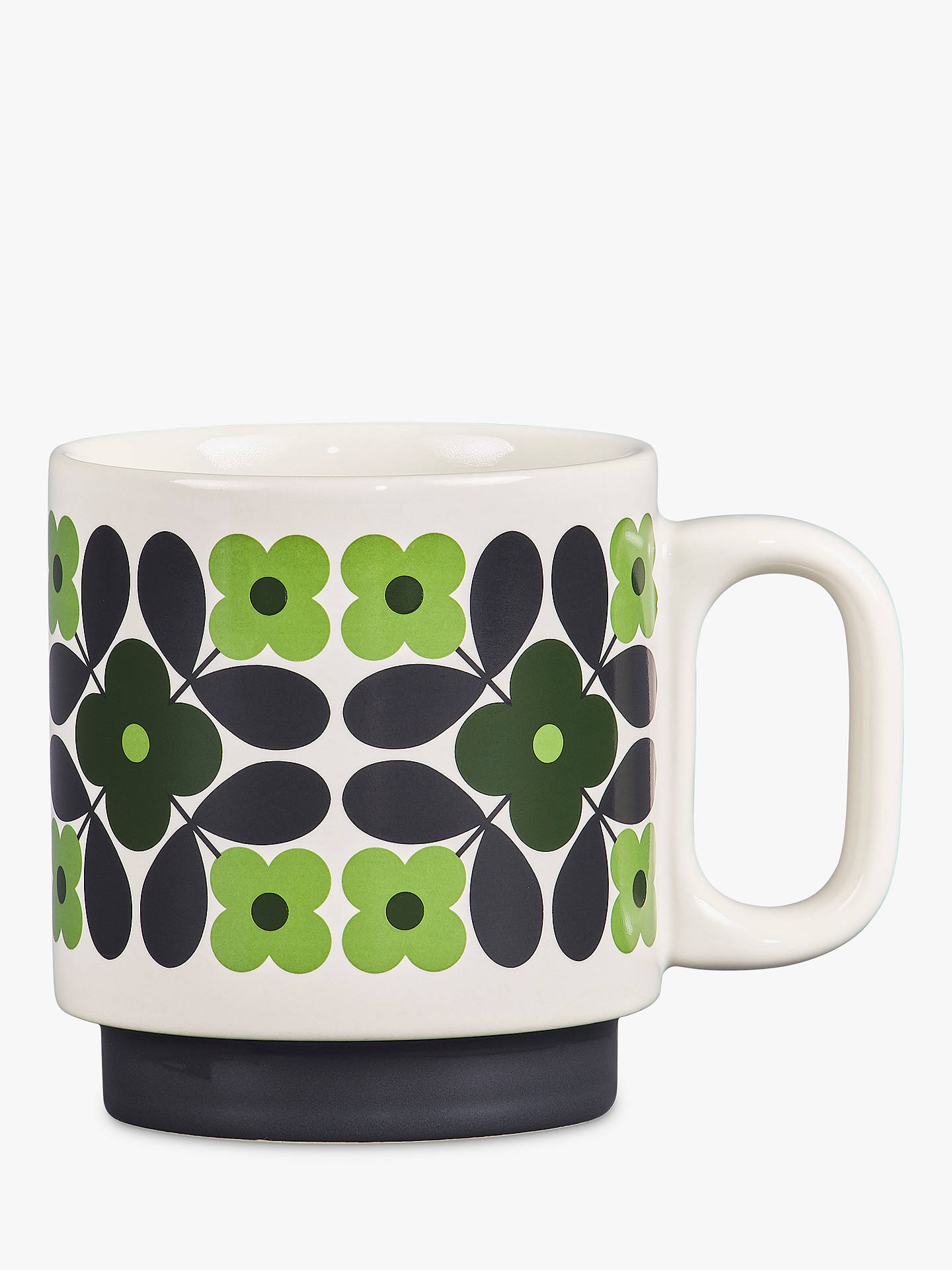 Buy Orla Kiely Flower Stackable Mug, 300ml, Green Online at johnlewis.com